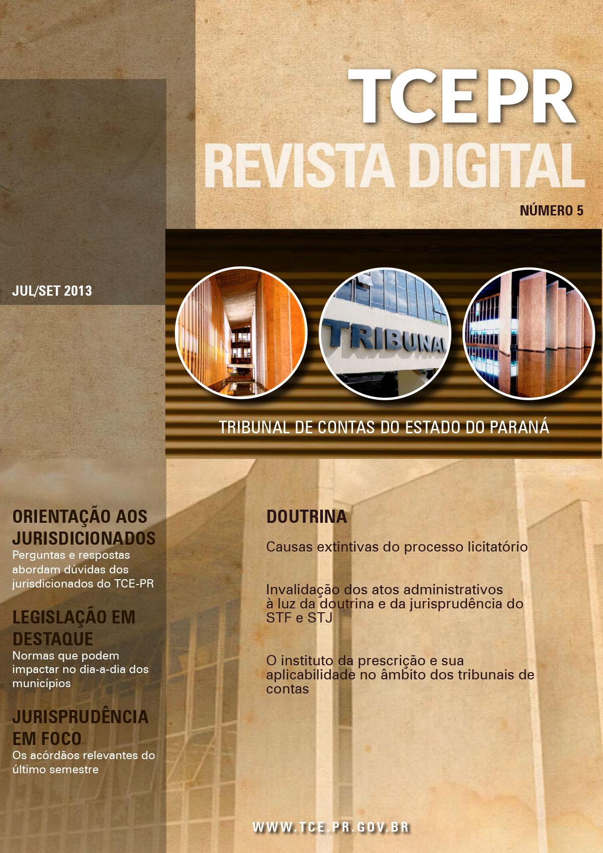 Revista Digital do TCEPR - número 5