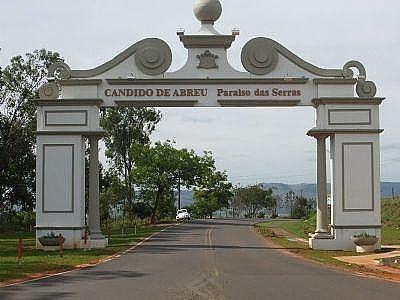 Portal de entrada de Cândido de Abreu, município d ...
