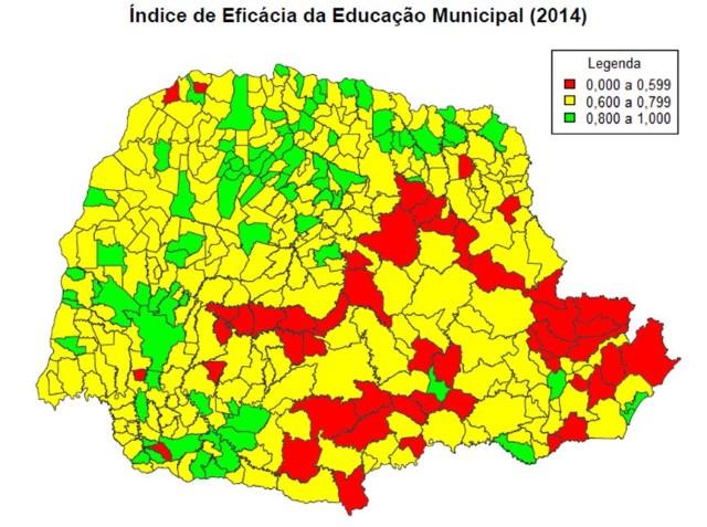 Gráfico apresenta índice de eficácia da educação n ...