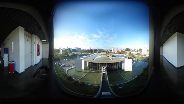 Vista do Edifício-Sede do TCE-PR a partir do 5º an ...