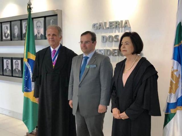 Conselheiros Durval e Bonilha participam da posse do novo presidente do TCU