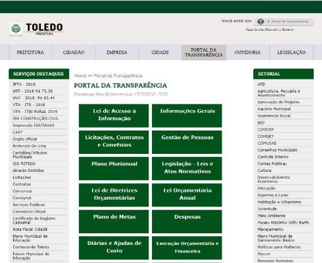 Cautelar do TCE-PR determina que Toledo melhore a transparência de licitações