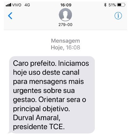 TCE passa a enviar mensagens via SMS aos celulares de gestores públicos do Paraná