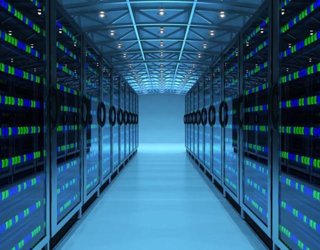 Imagem de data center (centro de processamento de ...