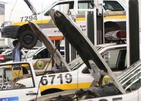 Manutenção de veículos da Polícia Militar do Paran ...
