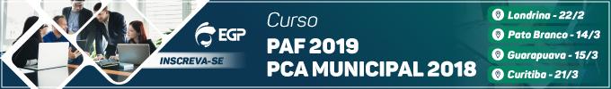 PAF 2019 e PAF 2018 - fixo