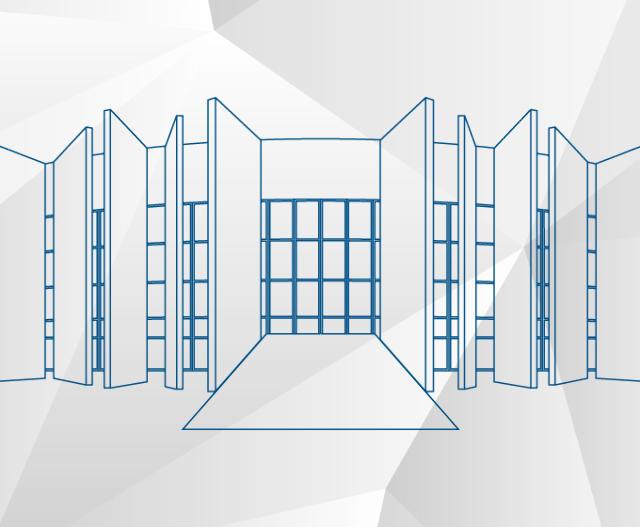 Imagem estilizada do Edifício-Sede do TCE-PR, no b ...