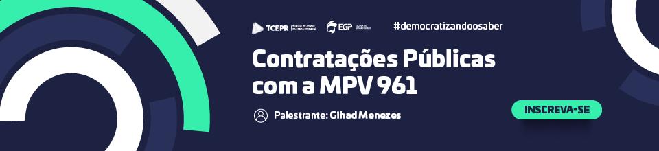 Online  Banner Contratações Públicas com a MPV 961