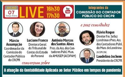 Live, no dia 7, debate a contabilidade pública em tempos de pandemia