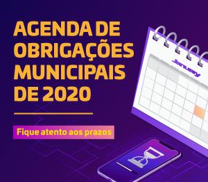 Banner rotativo  Agenda de Obrigações Municipais
