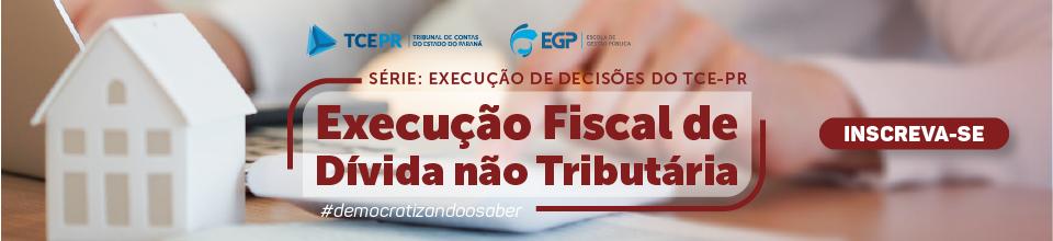 Online Banner Execução Fiscal Divida não tributári