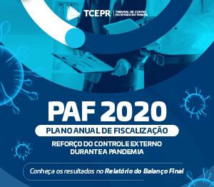 PAF 2020 Relatório Final - Banner rotativo