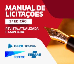 Manual de Licitações - 3ª edição - banner rotativo